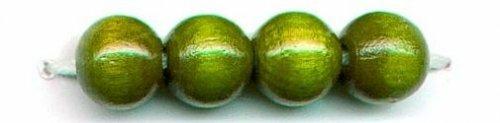 Бусины деревянные, цвет: зелёный, 47 штук, арт. 61654007