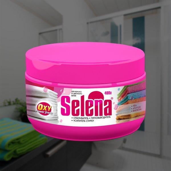 """Отбеливатель, усилитель стирки """"Selena"""", 400 грамм"""