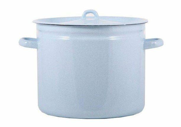 Кастрюля эмалированная ЛЭ С-1624Рб 12 литров, с крышкой, Лысьвенский завод эмалированной посуды (лзэп)