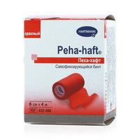 Хартман пеха-хафт бинт фиксирующий когезивный красный 4х6см