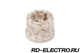 Ретро розетка с заземляющим контактом, 16А 250В, мрамор Lindas