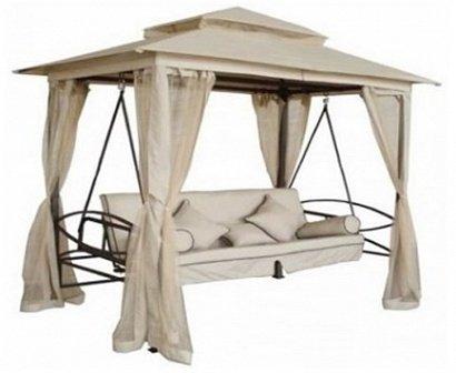 Садовая мебель Садовые качели-беседка KingGarden KS 505 (бежевые)