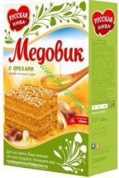 Торт песочный Медовик с орехами 340 гр.