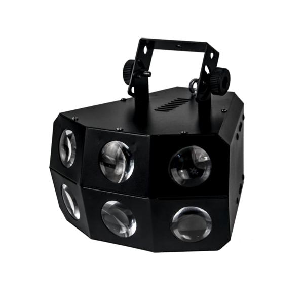 STAGE4 BEAMBANK 6-24XA Прибор световых эффектов, источник света 24*3W LED (6R+6G+6B+6A), DMX-512 – 4 кан., строб, диммер, Master-slave/Auto/Sound, мощность 75 Вт., 260*280*220 mm, 2.9 kg.