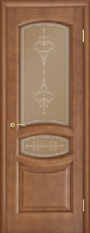 Межкомнатная дверь Regidoors Gracia Анастасия Темный анегри со стеклом
