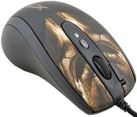 Мышь проводная A4TECH XL-750BH чёрный коричневый USB