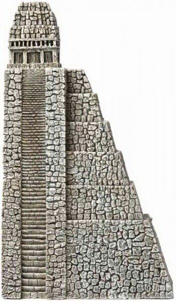 Пирамида Hydor Декорация ацтеков, левая сторона