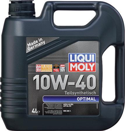 LIQUI MOLY Optimal 10w40 полусинтетическое моторное масло 4 литра (3930)