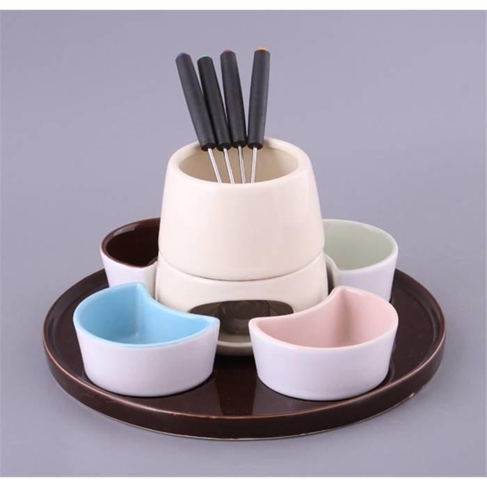 Arti-M фондю 470-074 набор для фондю:чаша+4 пиалы+4 вилочки на подставке керамика+металл (кор=6наб.) керамик