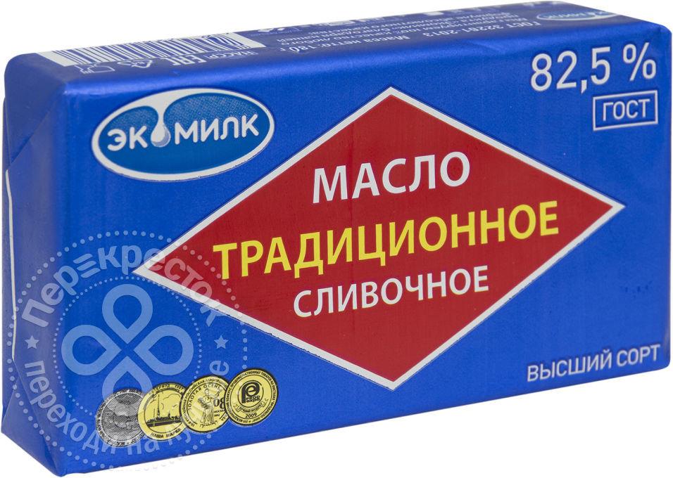 Масло сливочное Экомилк Традиционное 82.5% 180г