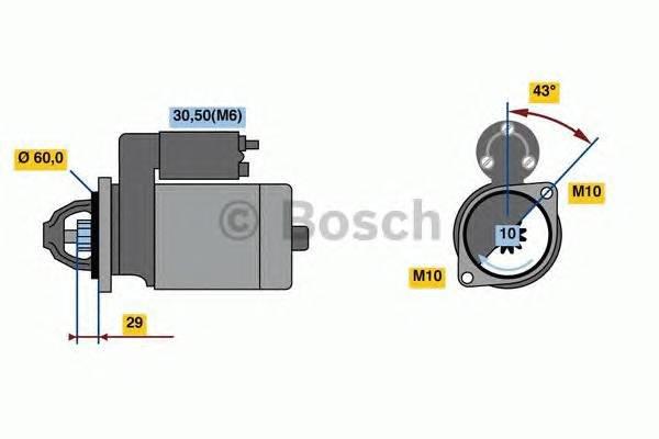 Стартер mercedes-benz c class c 230 (01.07-/09.08-) clk c 280 (01.05-/09.02-) e-class c 350 (01.0... Bosch 0001107459