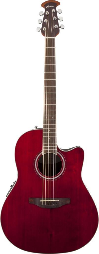 OVATION CS24-RR Celebrity Standard Mid Cutaway Ruby Red электроакустическая гитара