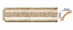 Плинтус потолочный Декомастер Венецианская бронза 167S-127