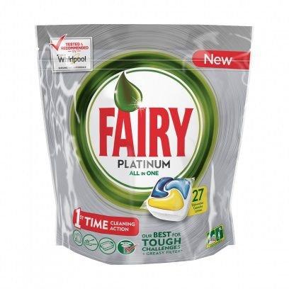Средство для мытья посуды FAIRY Platinum, Лимон, 27шт, для посудомоечных машин [fr-81576785]