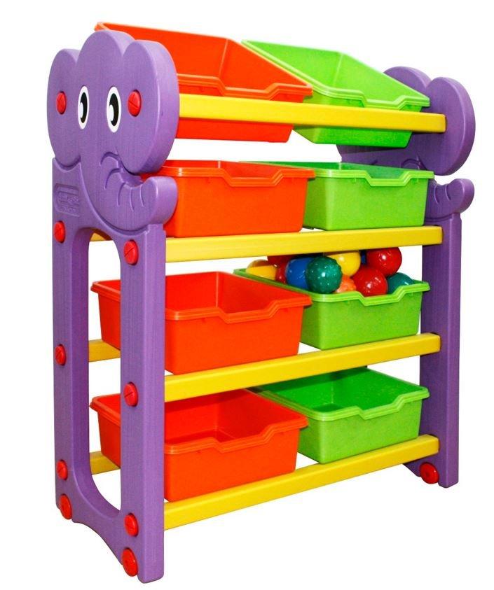 Стеллаж для хранения игрушек (4 секции)