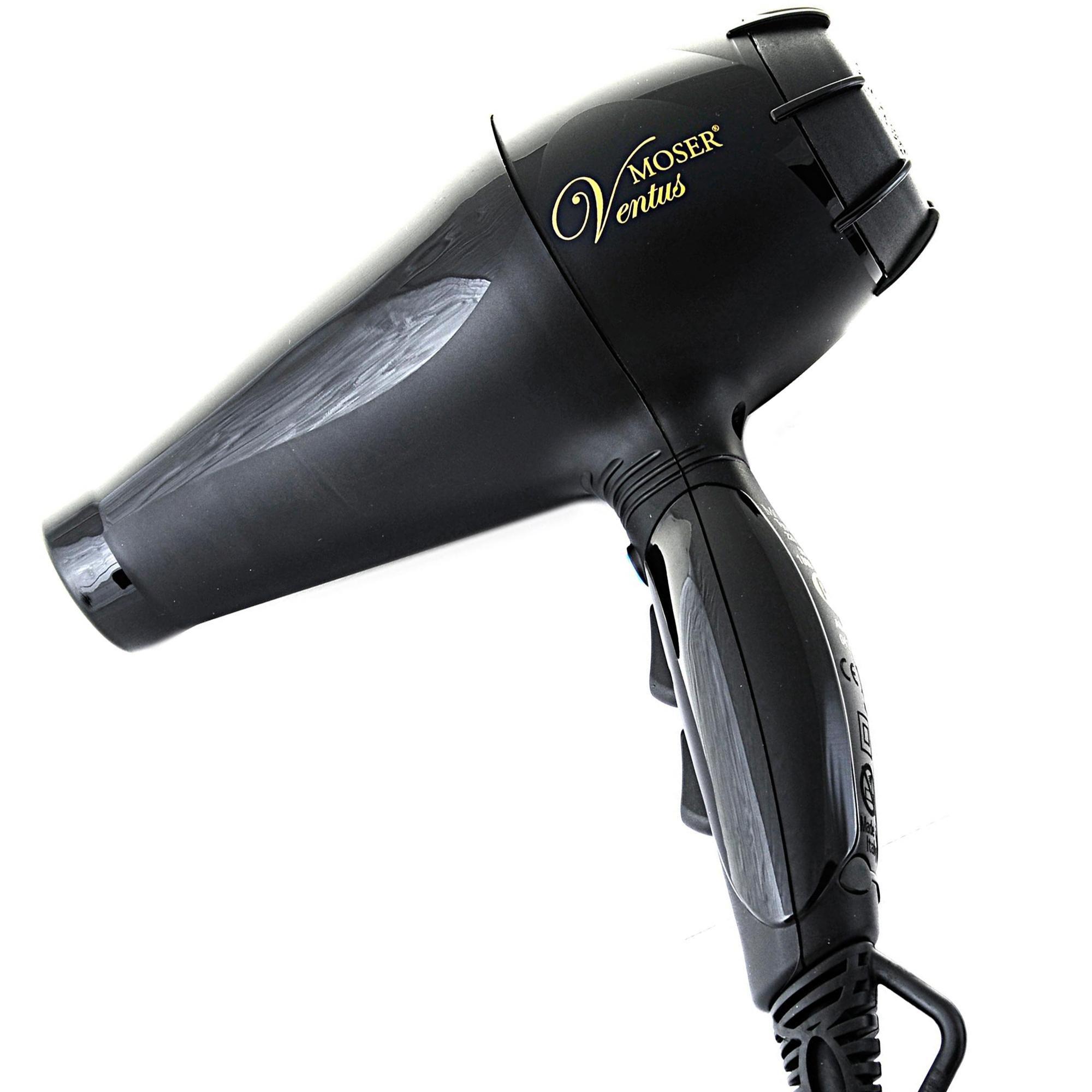 Moser 4350-0050 фен профессиональный черный с турмалином 2200вт. ventus