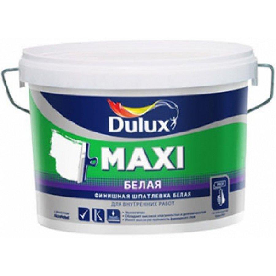 DULUX MAXI шпатлевка финишная, эластичная, безусадочная, белая (10л)