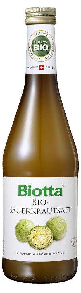 Сок Biotta прямого отжима, из квашенной капусты с морской солью, 500 мл