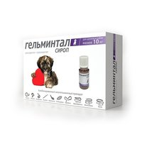 Сироп от гельминтов Гельминтал для щенков и собак менее 10 кг, 10 мл