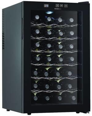 Винный шкаф Shivaki SHW-28V1 черный/стекло