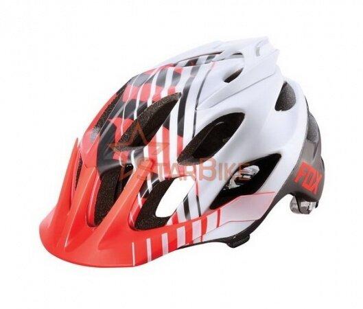 Велошлем Fox Racing Flux Savant Helmet Red/White S/M