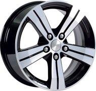 Колесные диски SKAD Мицар 6.5x16 5x114.3 ET38 D67.1 Черный глянцевый с полированной лицевой частью (арт.0350305) - фото 1