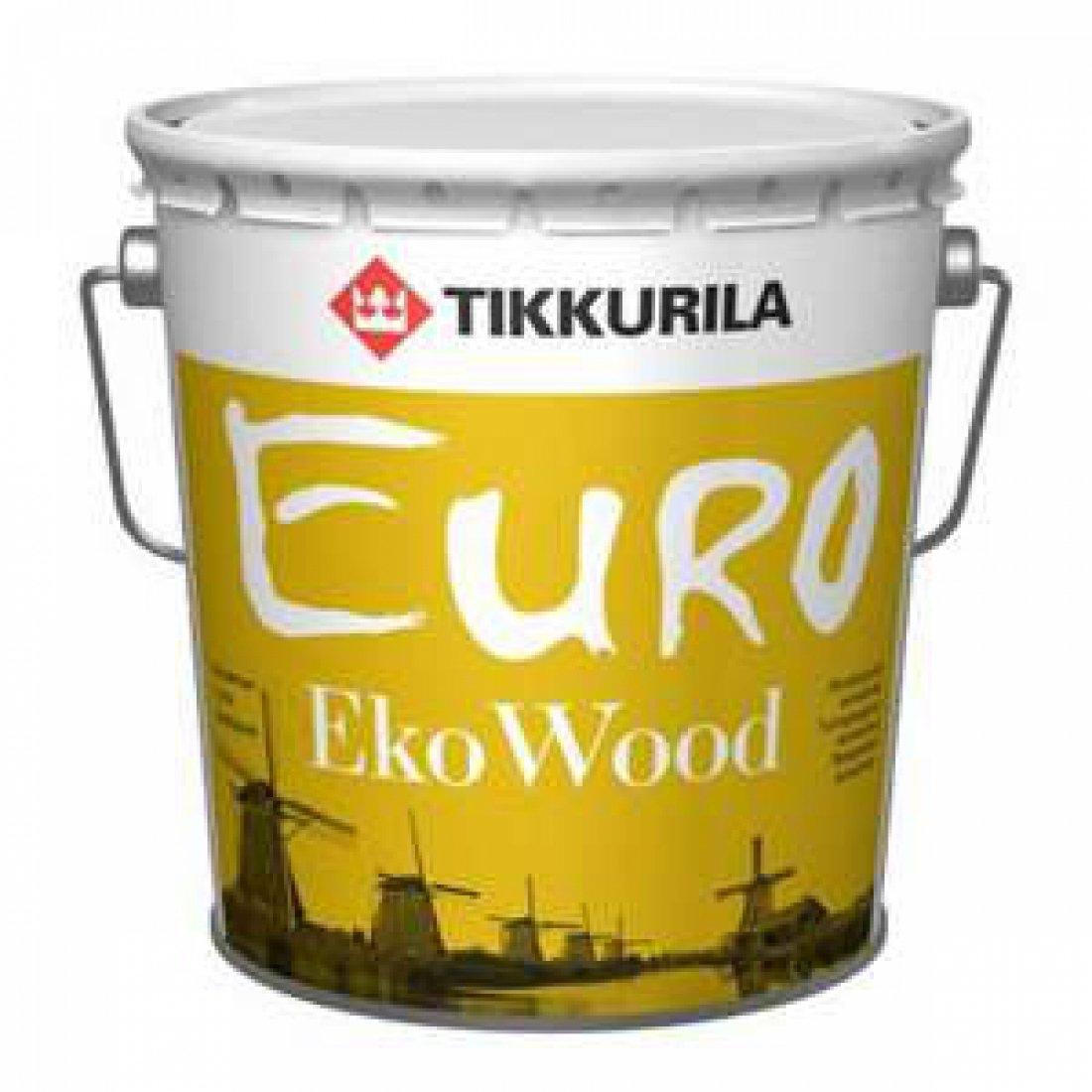 TIKKURILA EURO EKO WOOD антисептик лессирующий, бесцветный (9л)