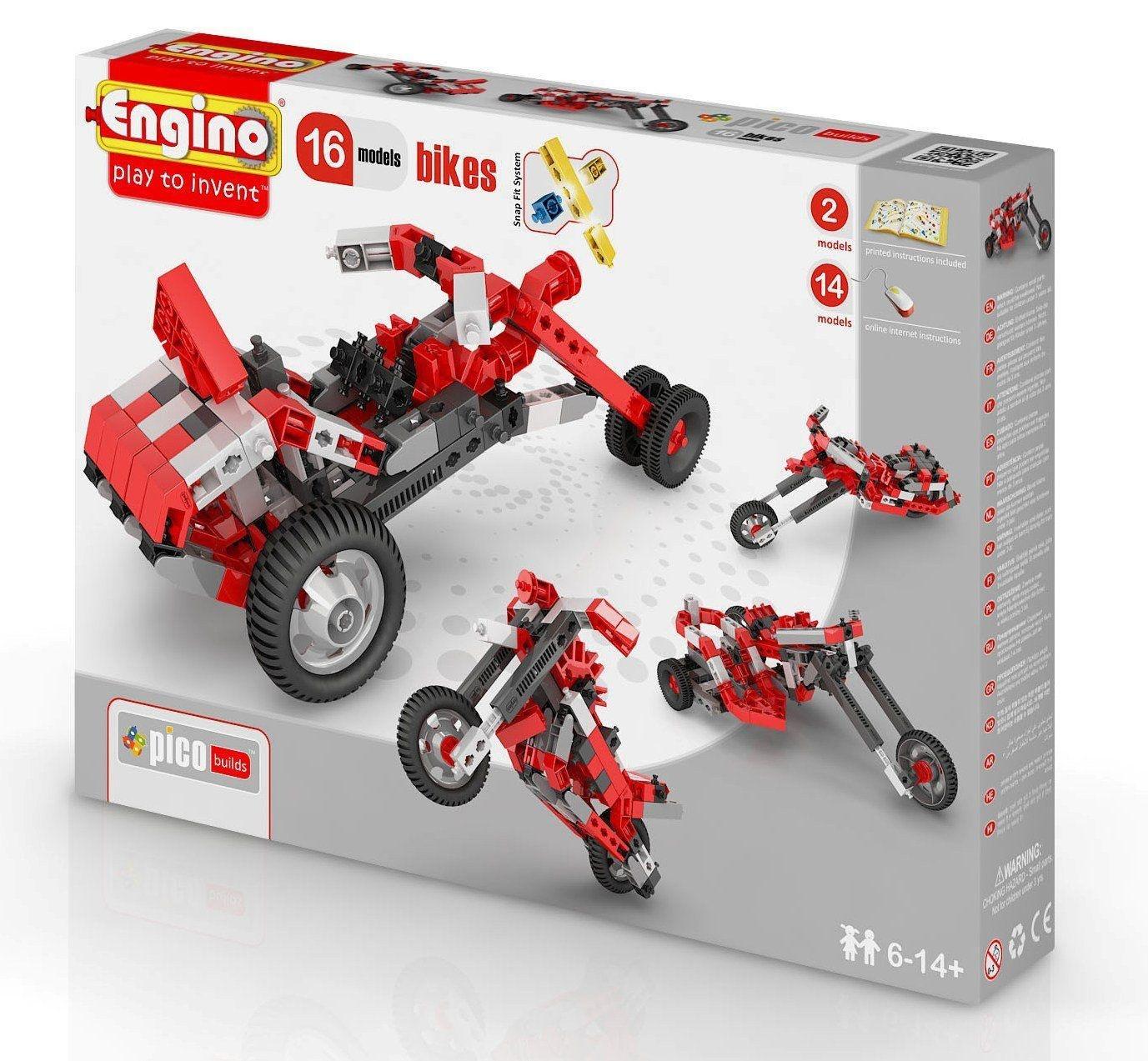 Конструктор Engino PICO BUILDS|INVENTOR Мотоциклы - 16 моделей - PB42(1632)