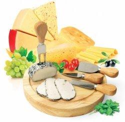 Bradex Набор для резки сыра из 4-х приборов и деревянной доски «рокфор»