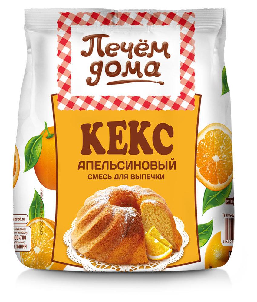 Смесь для выпечки кекса «Печем Дома» апельсиновый, 400г