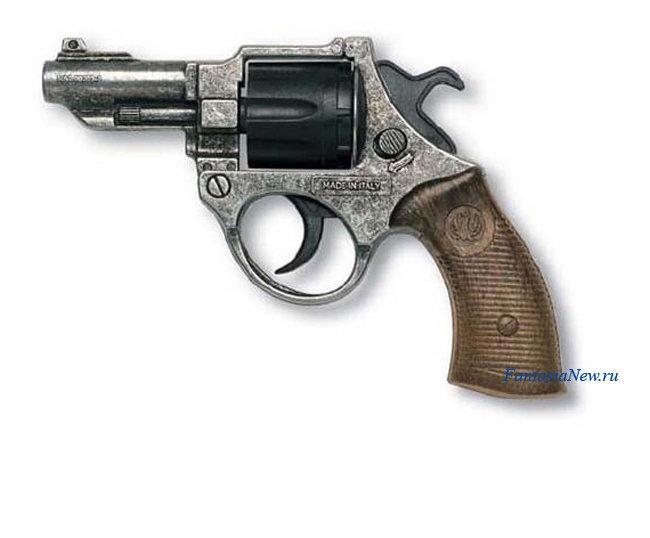 Револьвер игрушечный EDISON Giocattoli 206/96 агента ФБР на 8-ми зарядных пистонах 12,5 см детский игрушечный пластмассовый пистолет из пластика FBI оружие супер полицейского