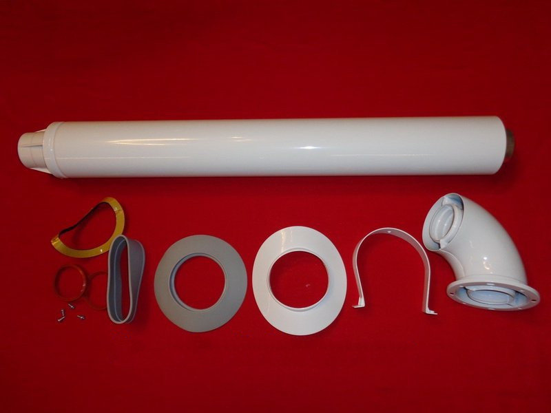 Коаксиальный дымоход (комплект коаксиальной трубы) длина 1метр артикул 0KITCONC00