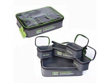 Емкости прикормки насадки и аксессуаров Feeder Concept EVA 5шт. 05 набор