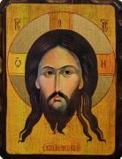 Икона состаренная Спас Нерукотворный (Размер 18*24 см)