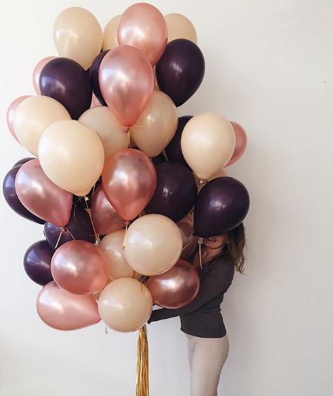 35 шариков пастель с гелием