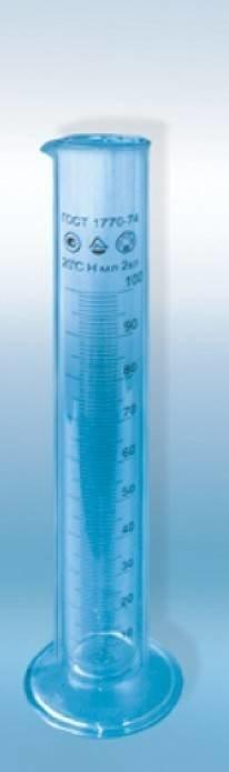Цилиндр мерный с носиком на стеклянном основании исп. 1 кл. 1 на 100 мл