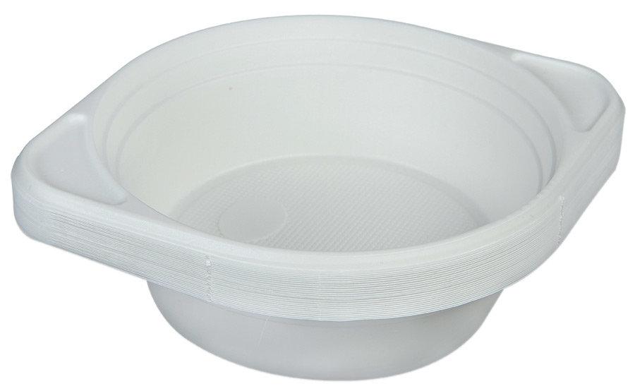 Миски На троих суповые белые одноразовые 25 шт