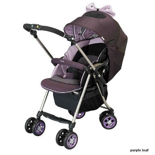 Детская прогулочная коляска Combi Miracle Turn Premier XZ-600 Purple Leaf