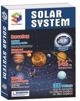 Объемный 3D пазл солнечная система