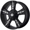 Диск KMC KM668 9x22/6x135*6x139,7 ЕТ18 D106,25 Black/Machined - фото 1