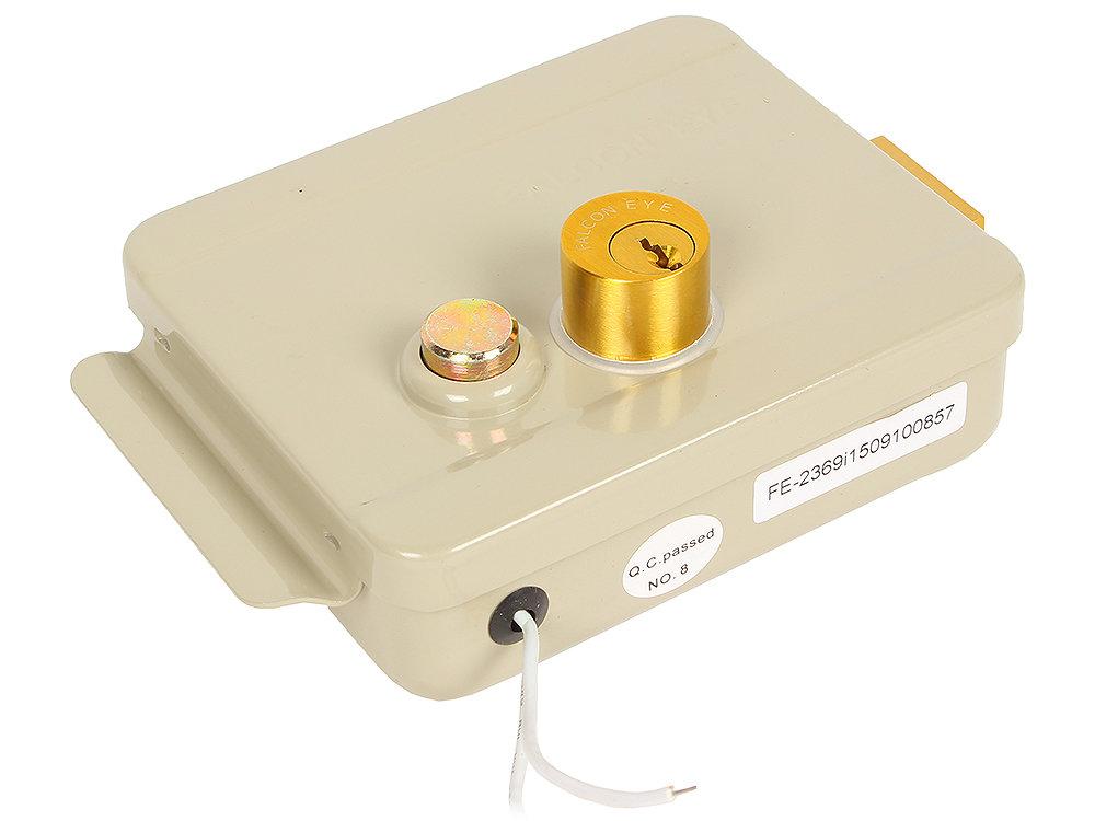 Накладной электромеханический замок Falcon Eye FE-2369i (iron) Накладной электромеханический замок с блокировкой кнопки выхода (крашенный)