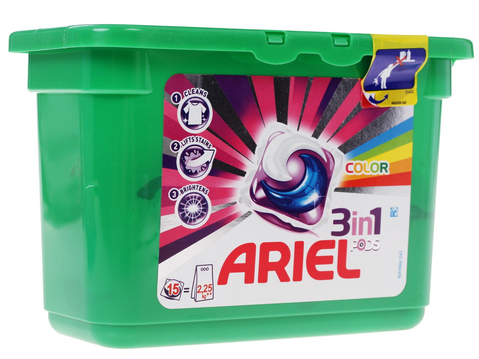 Чистящее средство для стиральных машин Ariel Active Gel Capsules Color&Style