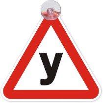 Наклейки, шильдики и значки для автомобиля Хороший знак Автомобильные знаки на присоске Ученик за рулем (133x133 мм)