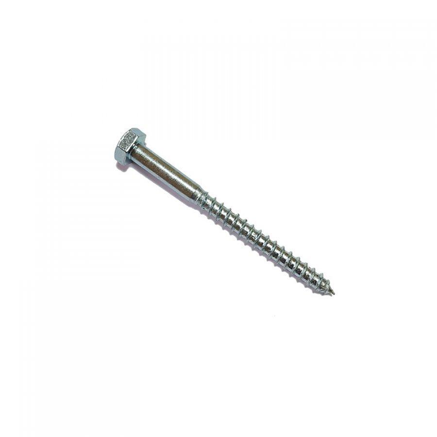 Шуруп глухарь размер D=10 6х30 мм (диаметр х длина) саморез сантехнический по дереву DIN 571 с шестигранной головкой