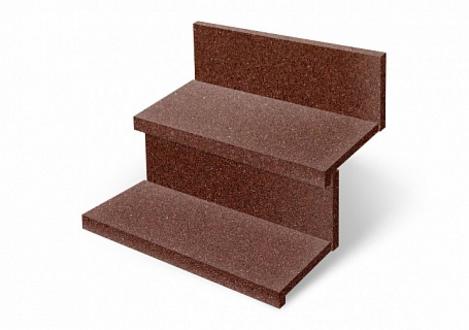Резиновая плитка ST Противоскользящая Ступень коричневая 500х500х20 мм