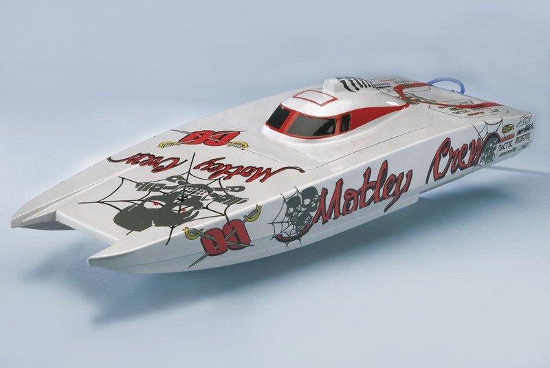 Катера с электродвигателем Радиоуправляемый катер Aquacraft Motley Crew Brushless FE Catamaran 2.4GHz
