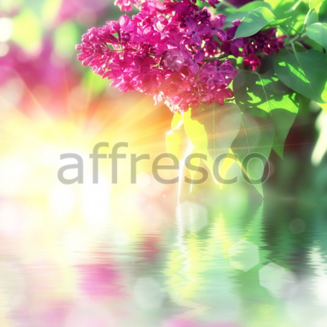 Фреска Affresco Отражение ветки сирени арт. F11836