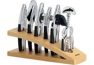 Набор кухонных инструментов NADOBA Sirena, хром, 7 предметов