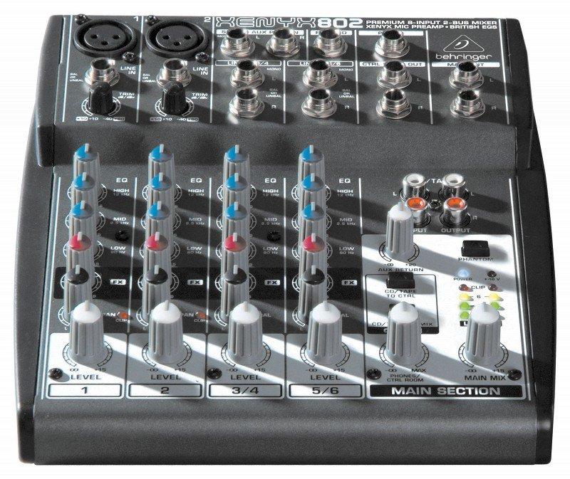 BEHRINGER 802 микшер, 2 моновхода, 2 стерео, 1 AUX-шина