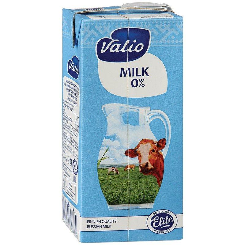 Молоко питьевое Valio 0% (1 л)
